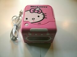 Hello Kitty AM/FM Stereo Alarm Clock Radio w/ Top CD Player Model: KT2053A