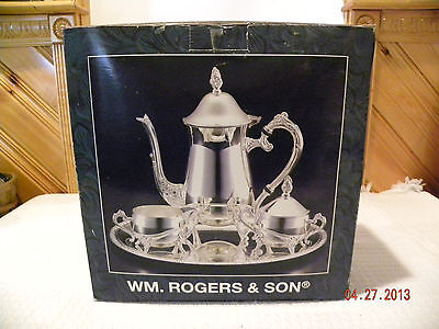 Wm. Rogers and Son Silverplate Coffee Set New In Box