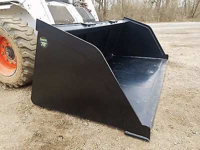 New Powder Coated 78 Snowmulchdirtgravel Bucket Skid Steer Loader Ships Free