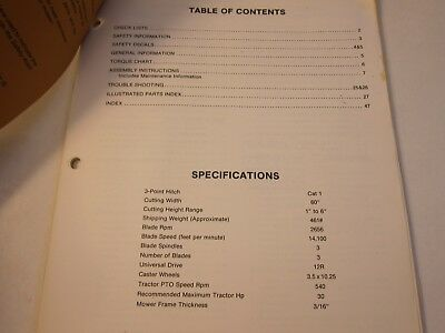 1983 Woods Rm500-2 Mower Rotary Cutter Operators Manual Lots More Listed Lg6