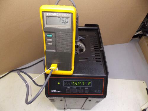 FLUKE HART SCIENTIFIC 9122 DRY WELL TEMPERATURE CALIBRATOR STANDARD *TESTED*