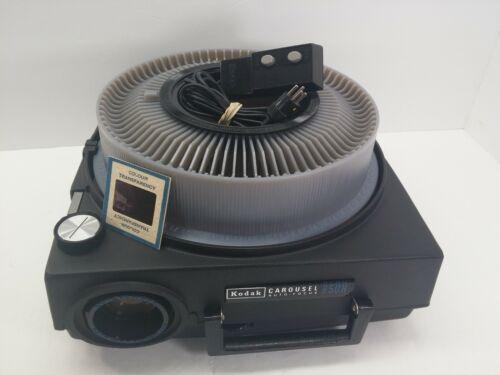 Kodak 850H Carousel Slide Projector w/Lens Lamp Remote Slide Tray **TESTED**