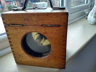 VINTAGE PIGEON CLOCK TOULET EXCELSIOR RACING TIMER CLOCK OAK CASE BOX ANTIQUE