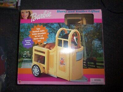 2000 Mattel Barbie Horse and Trailer Gift Set NEW