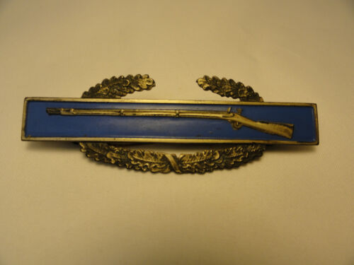 1965-67 US Army CIB Combat Infantry Badge Sterling A9-23