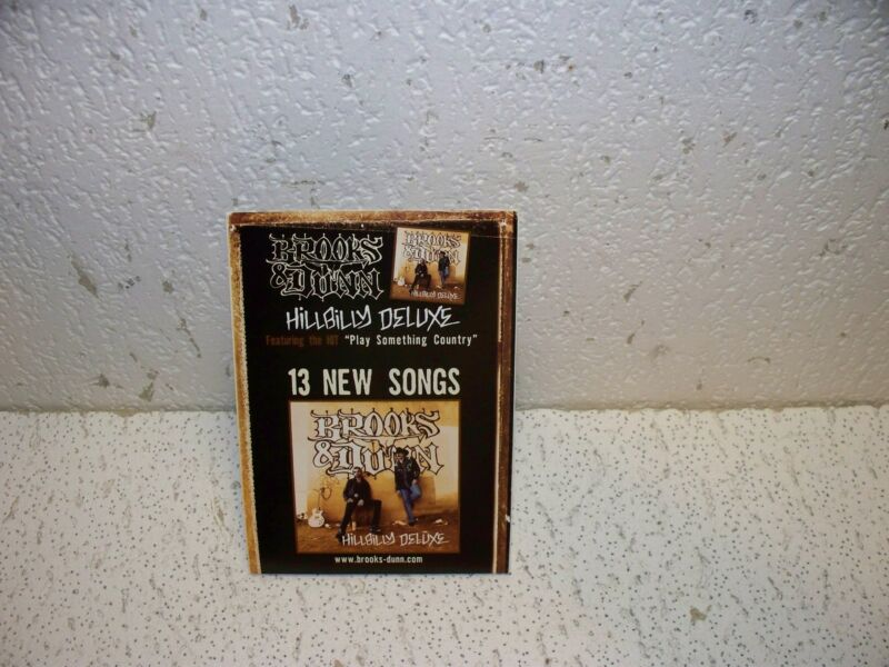 Brooks & Dunn Hillbilly Deluxe Promo Stand Up Card RARE 8 X 6 Ronnie and Kix