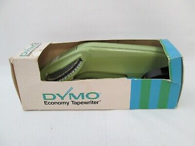 Vintage Dymo 1610 Label Maker Manual Labeler With Replacement Tape Roll New