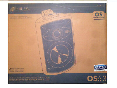 Niles OS6.3 Indoor / Outdoor Speakers ( pair) -WHITE-BRAND NEW (Niles Indoor Outdoor Speakers)