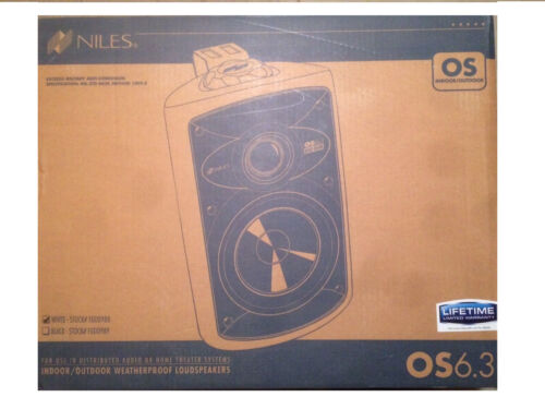 Niles OS6.3 2-Way Indoor/Outdoor Speakers (Pair) White Fg00988