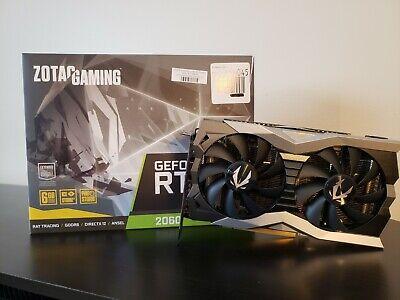 ZOTAC NVIDIA GeForce RTX 2060 6GB Graphics Card (ZTT20600F10M)