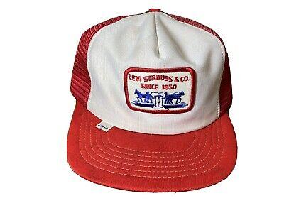 Vintage Levi Strauss Red Mesh Trucker Hat