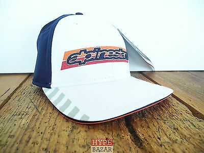 Weiß Fitted Hat Cap (ALPINESTARS TIER HAT CAP GR:L/XL NEU WHITE ASTARS ALPINESTARS )