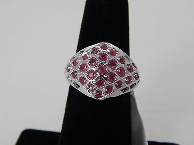 Ruby Ring -Sterling Silver-Unique Design -1.24CTW -Size 7-NWT- Retails $1,100.00