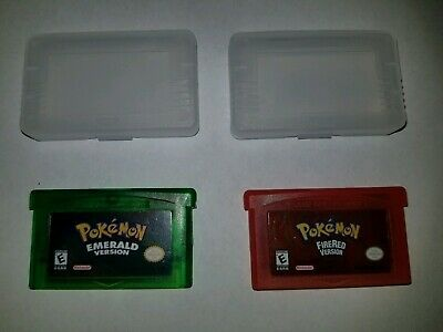 Pokemon Emerald and FireRed Version GBA  USA fast shipping *Read*
