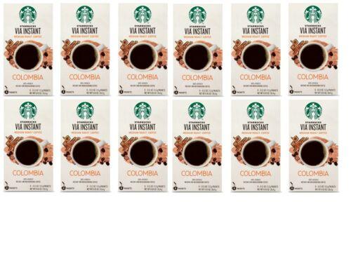Starbucks VIA COLOMBIA Instant Medium Roast Coffee, CASE OF 96, MAY 2021