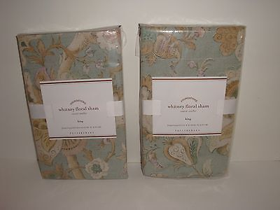 Pottery Barn S/2 Whitney Floral King Sham NIP Blue Multi French Floral on Lookza