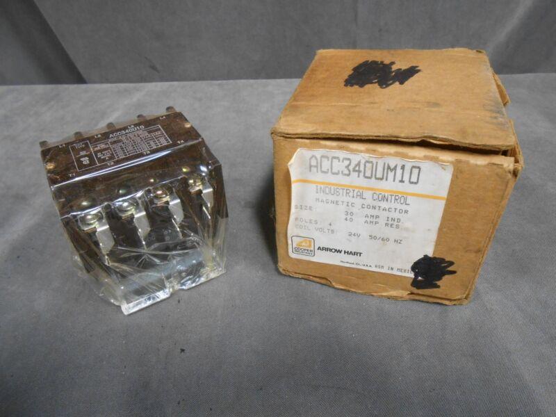 UNUSED Arrow Hart Part # ACC340UM10 Industrial Control Magnetic Contactor