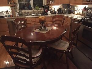 Vilas - Maple table and chairs $800 obo