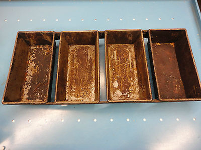 Used Free Ship Ekco Bread Baking Strap Pan - 4 Loaf Commercial Needs Cleaning