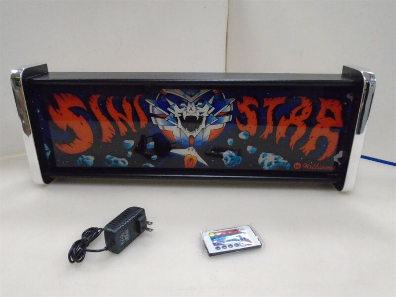 Sinistar Marquee Game/Rec Room LED Display light box