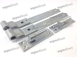 Gate Hinges Cranked 300mm 12