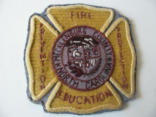 "MECKLENSBURG COUNTY NORTH CAROLINA ( NC ) ZIP=28269 FIRE DEPT PATCH 4"" RARE"