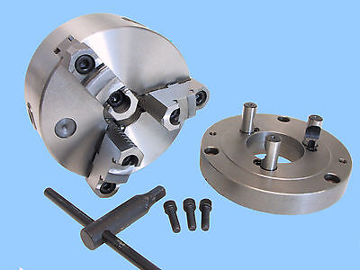 6 Self Centering 3 Jaw Chuck W. D1- 4 Adapter