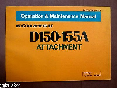 Komatsu D150 155a Attachment Operation Maintenance Manual 31 Pages Ripper Winch