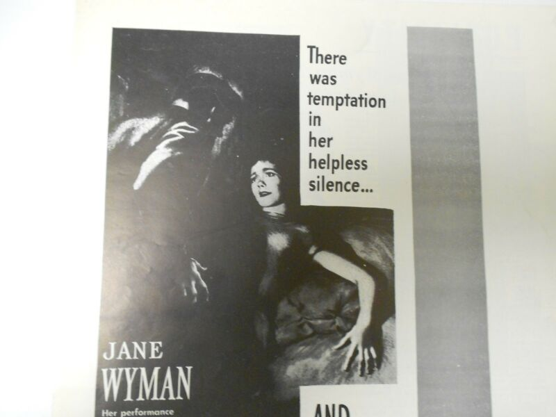 1948 JOHNNY BELINDA Press Book Kit JANE WYMAN Lew Ayers FN+