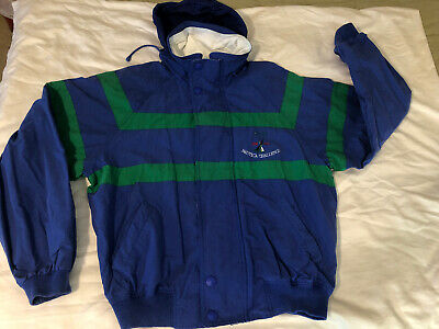 Vintage 90s Nautica Challenge J-Class Sailing Jacket Mens XL Hooded Full Zip