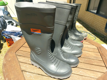 Steel cap gumboots all size 10 $20 pair