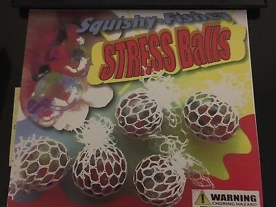 250 Mini Stress Mesh Balls Vending Tomy Machine Capsule Toys Only 25 Cents Each