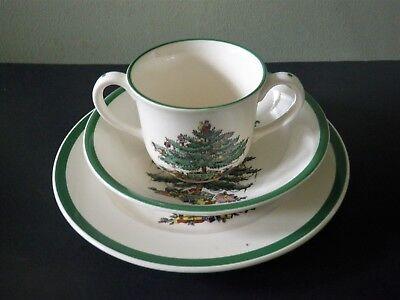 Spode Christmas Tree Porcelain 3 Piece Child's Set - Mug, Bowl & Plate