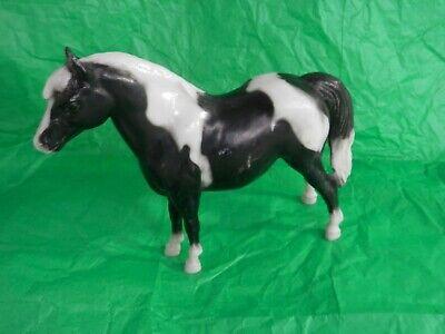 Vtg Breyer Model Horse USA Black & White Pinto Shetland Pony
