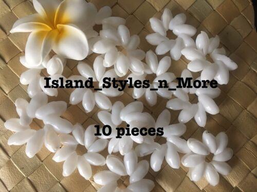 Hawaii Bubble Shell White Bullet Ring Wedding Costume DIY Crafts Luau 10 pcs