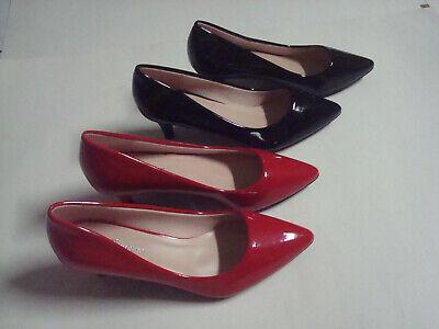 NEW Women Mid Low Block Heel Pointy Toe Stiletto High Heel Dress Pump Shoes SALE