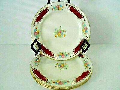 Homer Laughlin Dessert - Vintage Homer Laughlin MAJESTIC Set of 4 (7-1/4