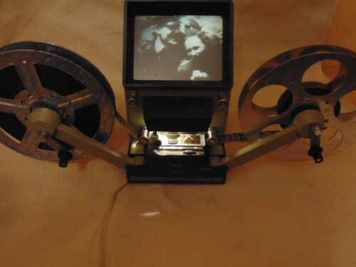 16mm Movie Film Editor Viewer Control Projector Screen Previewer Cine vintage