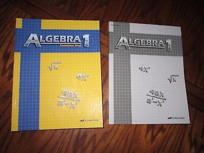 Abeka 9th 10th Grade  Algebra 1  # 66818 Solution Key # 178144 Test Quiz Key for sale  Victoria