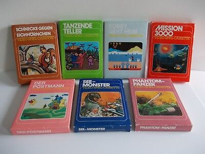 ATARI 2600 / 7800 RARE GERMAN GAMES BUNDLE BOXED COMPLETE  (TESTED AND WORKING)
