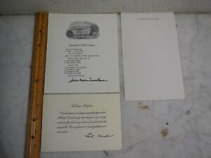 Vtg President Nixon Personal Desk Stationary/ Pat Nixon Thank You Card Signed