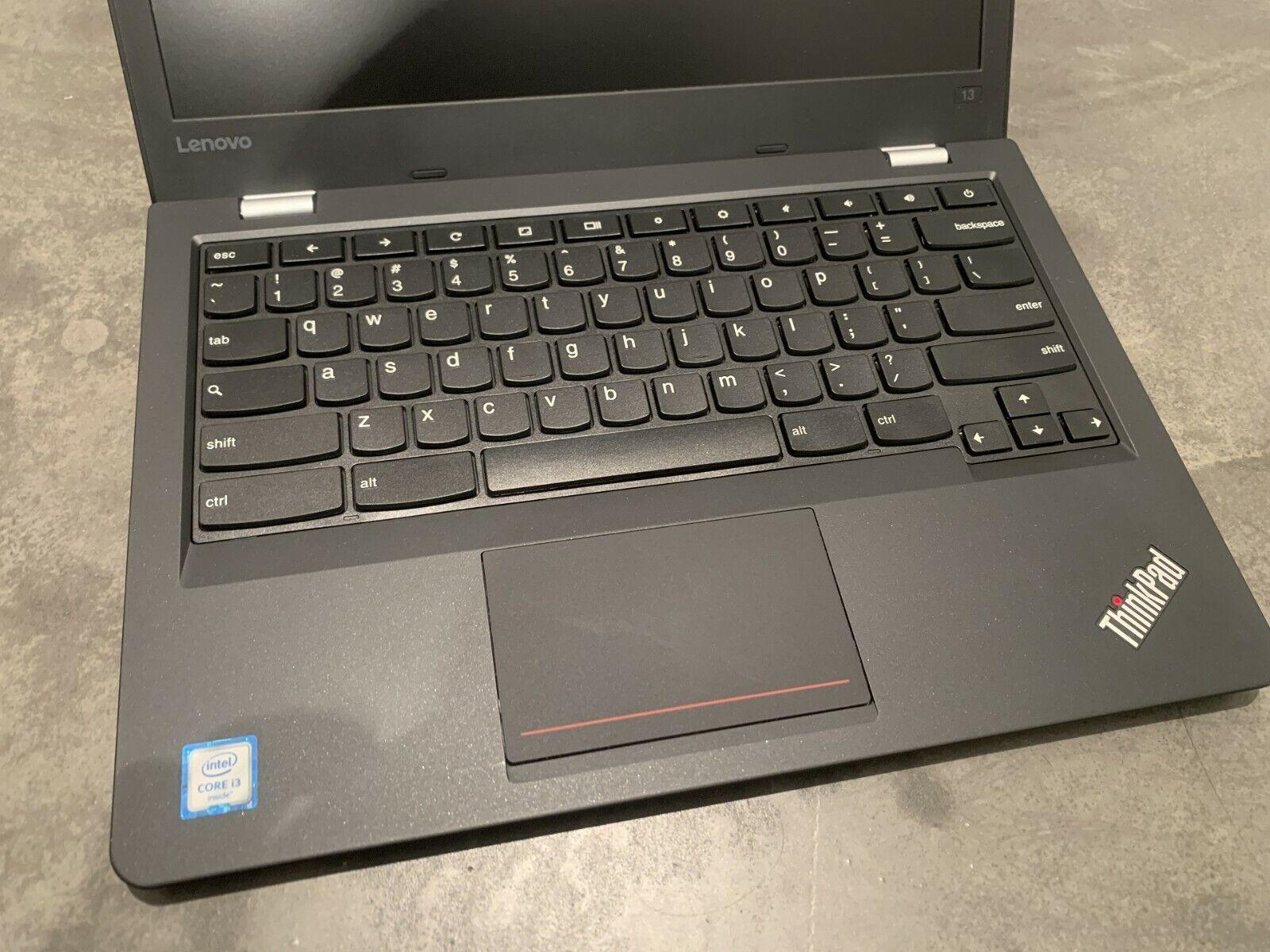 Lenovo thinkpad 13 chromebook - core i3 6100u 4gb ram 16gb mmc 13.3