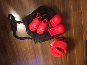 Childs karate, martial arts sparring gear