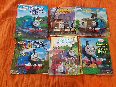 Thomas the Train Books ~ Lot 6 ~ ABC Book, Railway Rhymes, Diesel 10, School....