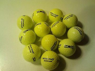 New Wilson Staff Premium Range Yellow Golf Balls L3 1 Dozen