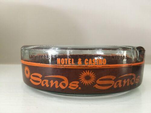 Vintage Sands Casino Hotel Las Vegas Nevada Souvenir Glass Ashtray