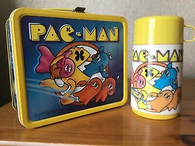 VINTAGE PAC-MAN LUNCHBOX AND THERMOS