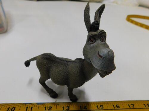 "Donkey Figurine From Shrek the Movie Hard Plastic Movable Head 5"" tall"