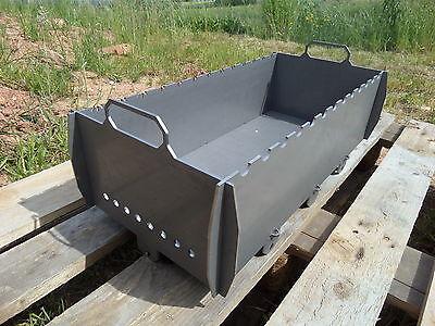 Schaschlik Grill, Mangal (Мангал) aus 3mm Stahl (ST37) XL für unterwegs