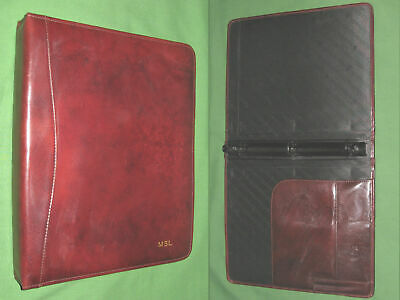 8.5x11 1.0 Brown Leather Scully Planner Binder Franklin Covey Monarch 9476
